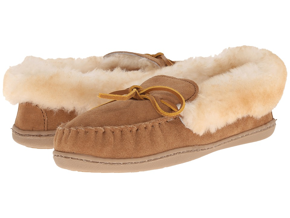 Minnetonka Alpine Sheepskin Moc (Golden Tan) Women's Mocc...