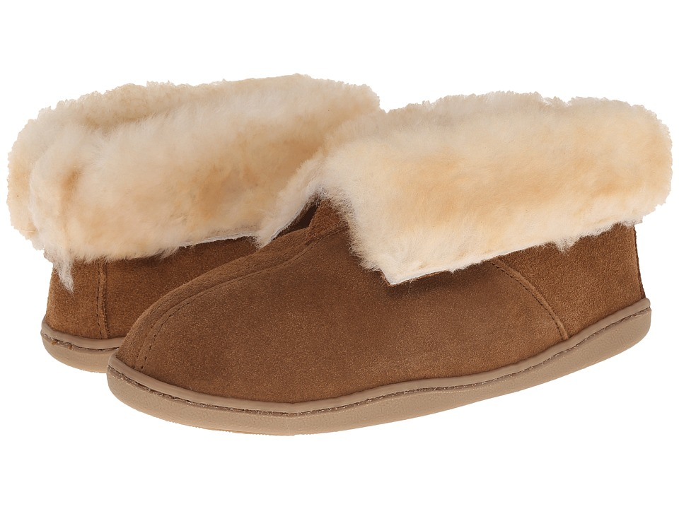 Minnetonka Sheepskin Ankle Boot (Golden Tan) Women