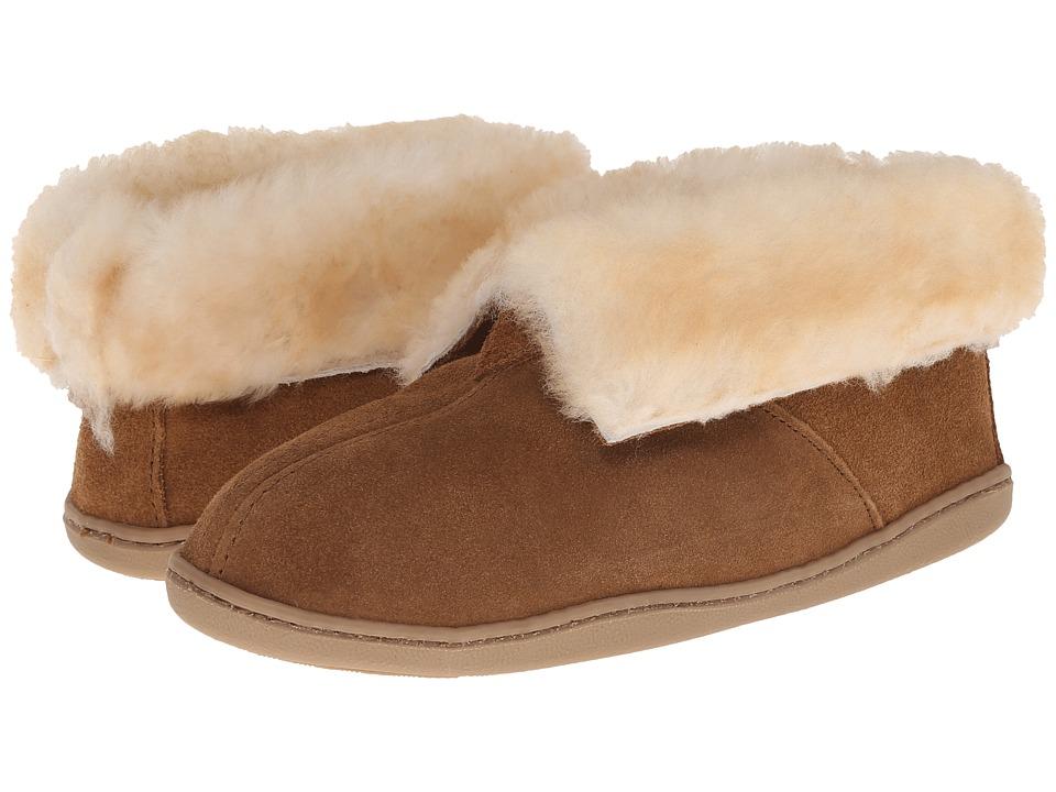 Minnetonka - Sheepskin Ankle Boot (Golden Tan) Womens Shoes