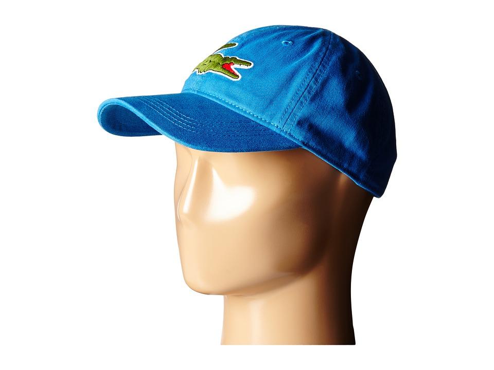 Lacoste Big Croc Gabardine Cap West Indies Blue Baseball Caps