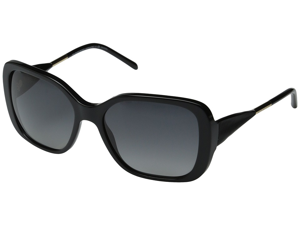 Burberry BE4192 Black/Gradient Grey Polarized Fashion Sunglasses