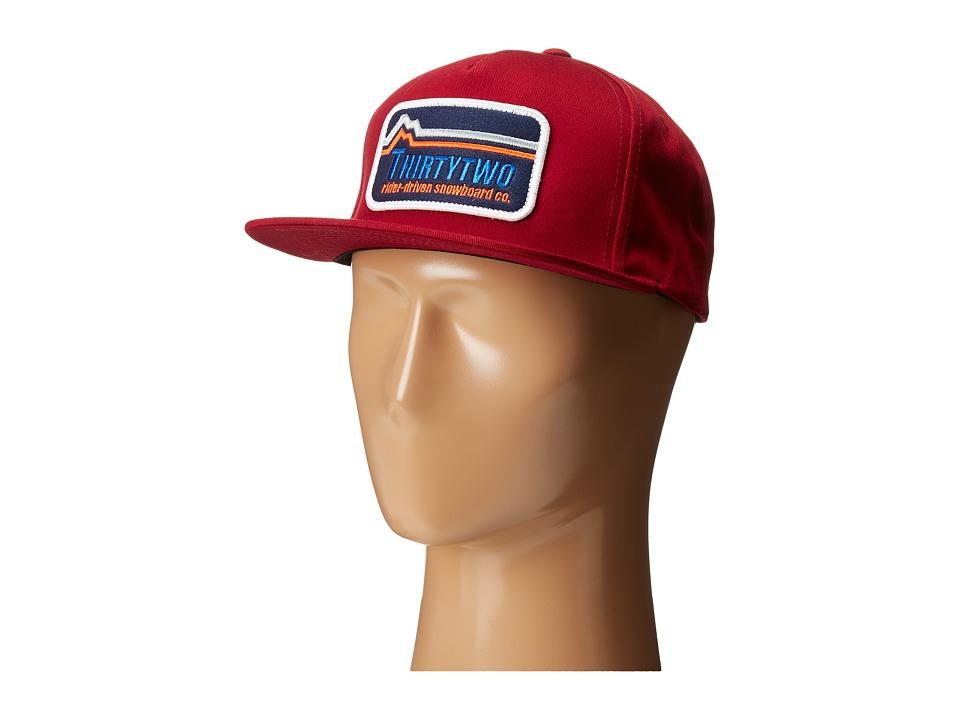 thirtytwo Blackridge 5 Panel Cap Red Caps