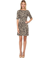 Kate Spade New York - Cheetah Ponte Waisted Dress