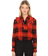 Kate Spade New York - Woodland Plaid Chiffon Blouse