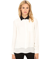 Kate Spade New York - Sequin Collar Shirttail Top