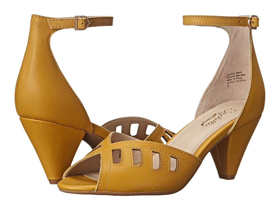 Seychelles - Astonish Mustard Womens 1-2 inch heel Shoes $100.00 AT vintagedancer.com