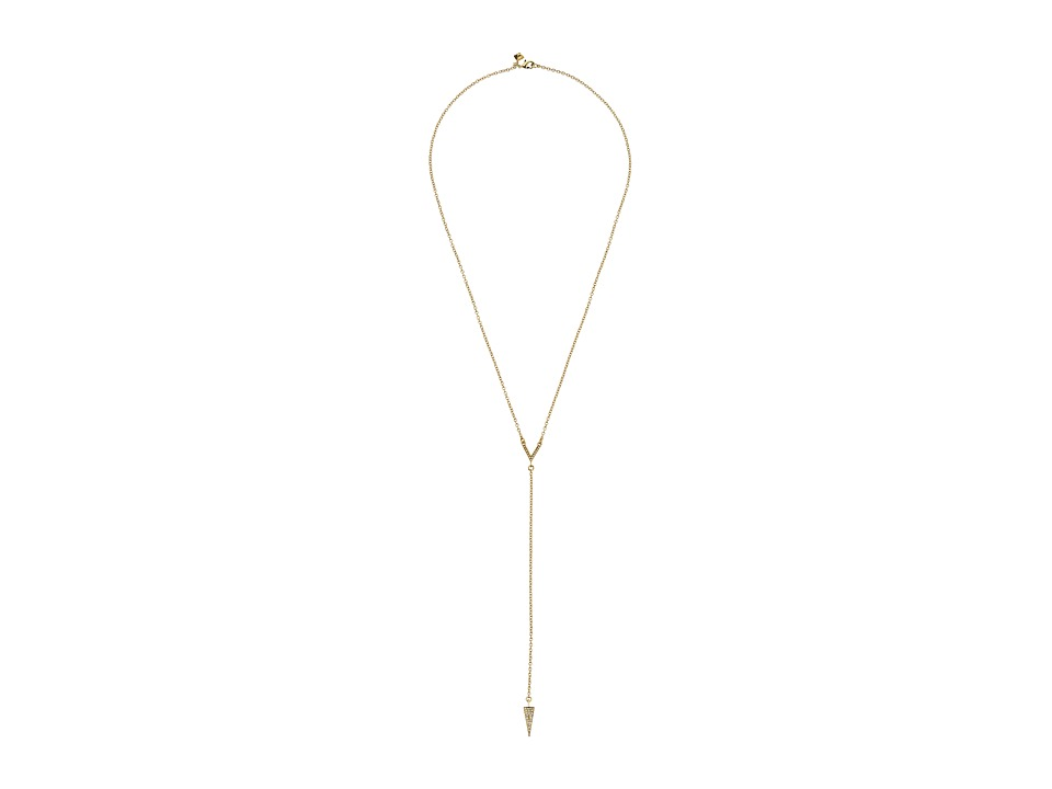 Rebecca Minkoff Crystal Cone Y Necklace (Gold Toned/Cryst...