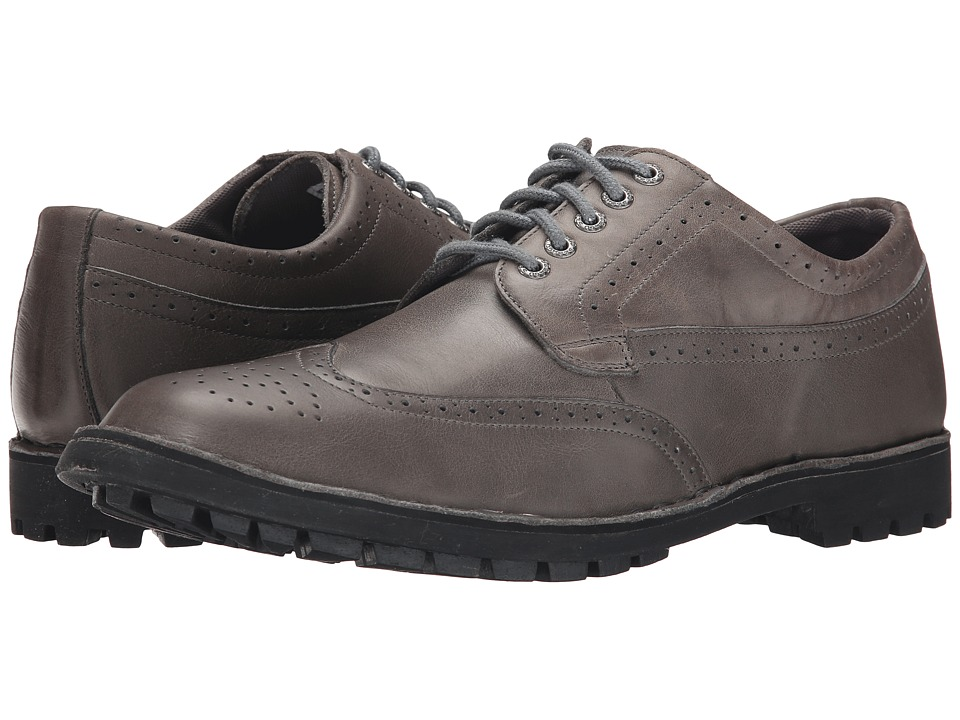 Sebago Metcalf Wing Tip Grey Leather Mens Lace Up Wing Tip Shoes