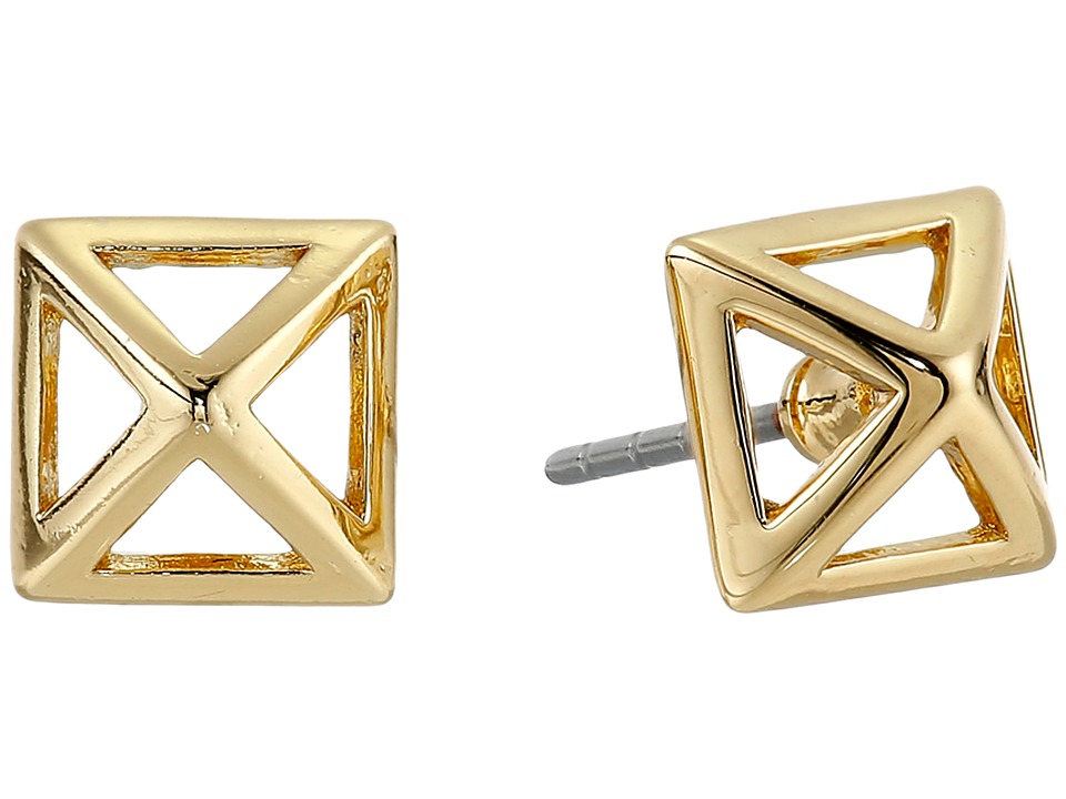Rebecca Minkoff - Cutout Stud Earrings (Gold Toned) Earring