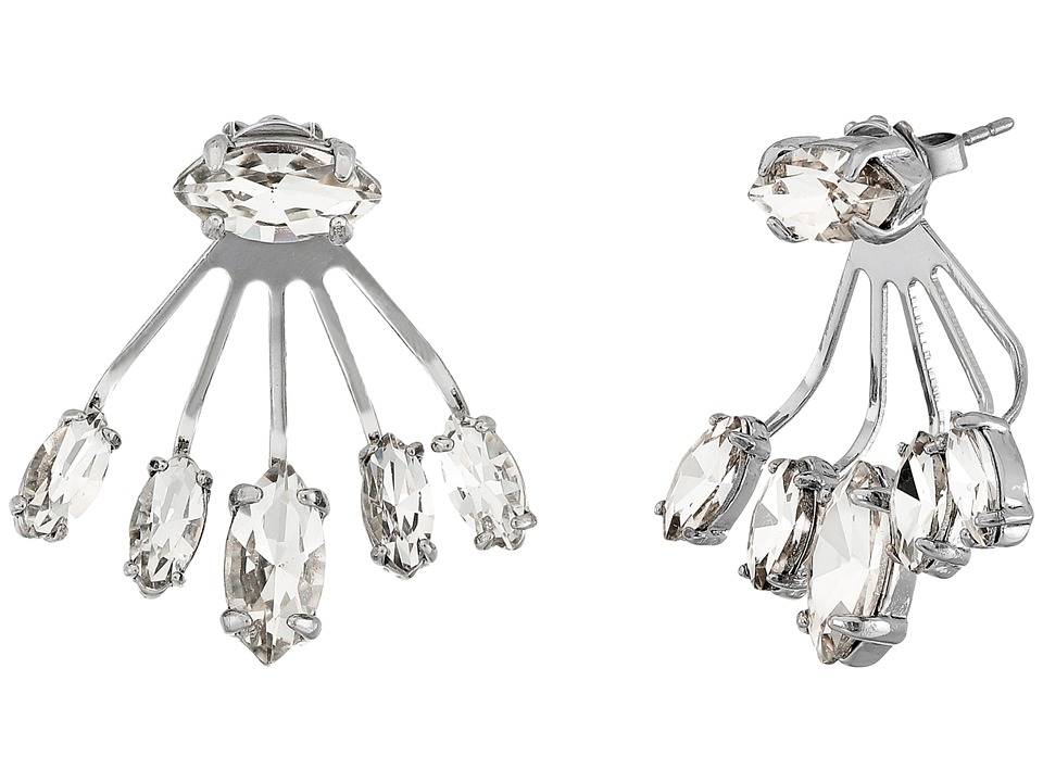 Rebecca Minkoff - Pheonix Front Back Earrings (Imitation Rhodium/Crystal) Earring