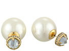 Rebecca Minkoff Pearl Front Back Earrings