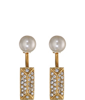 Rebecca Minkoff - Pave/Pearl Two Part Post Earrings