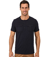 Calvin Klein Jeans - Short Sleeve Henley Mix Media Garment Dye