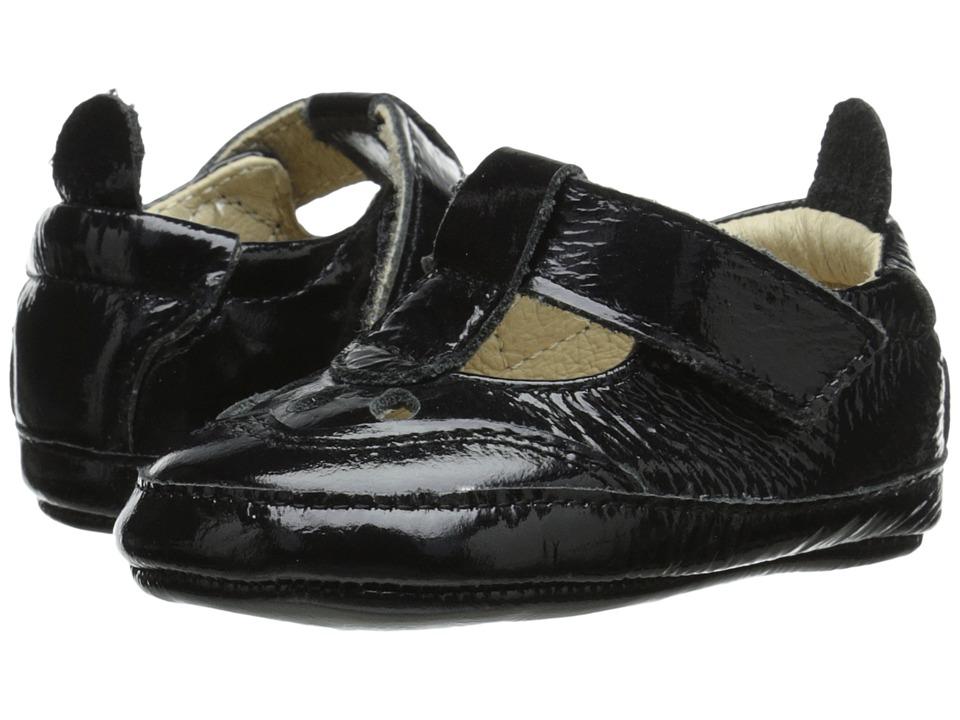 Old Soles Petite Petal Infant/Toddler Black Patent Girls Shoes