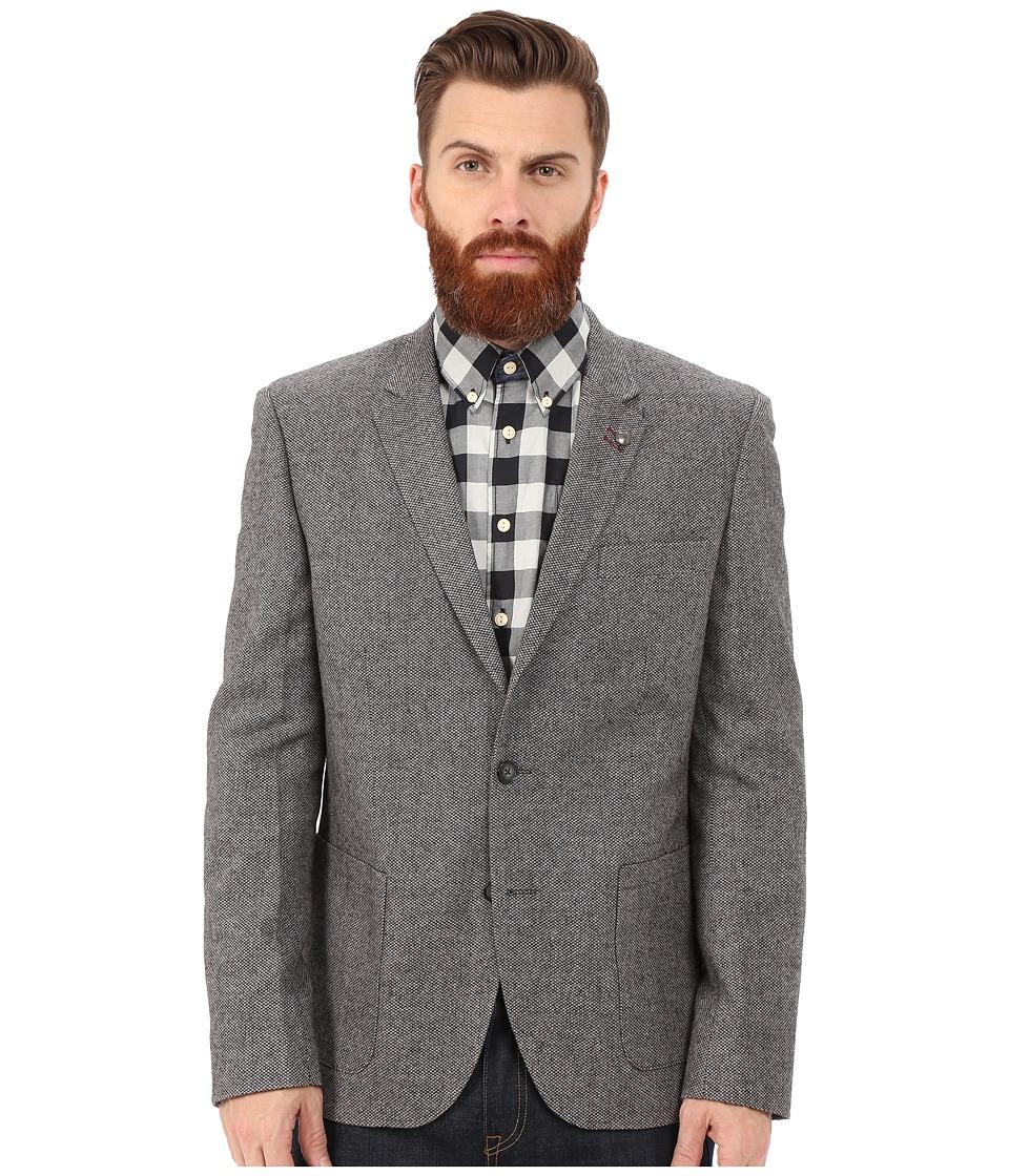 Lindbergh Wool Blazer Grey Mens Jacket