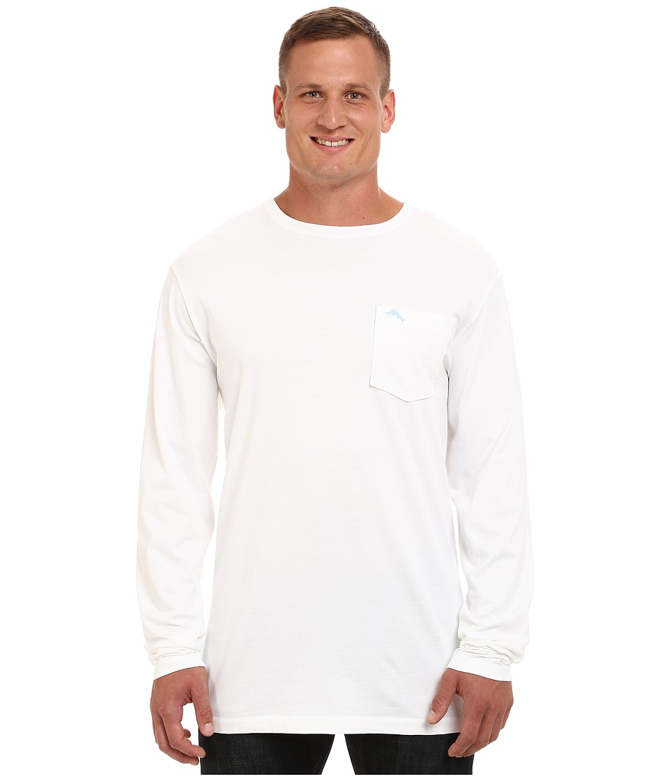 Tommy Bahama Big amp Tall Big Tall Bali Sky Tee Long Sleeve White Mens T Shirt