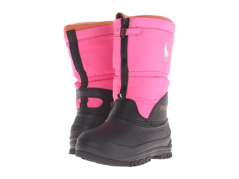 Polo Ralph Lauren Kids Avalanche Zip Little Kid Bright Pink Nylon Kids Shoes