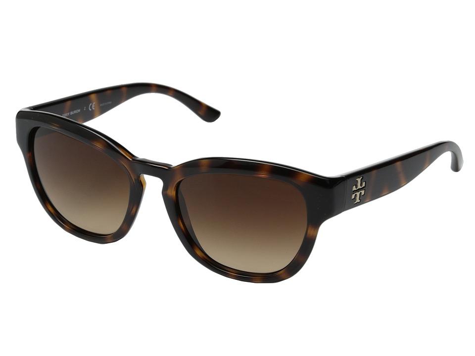 Tory Burch - TY9040 (Dark Tortoise/Brown Gradient) Fashion Sunglasses