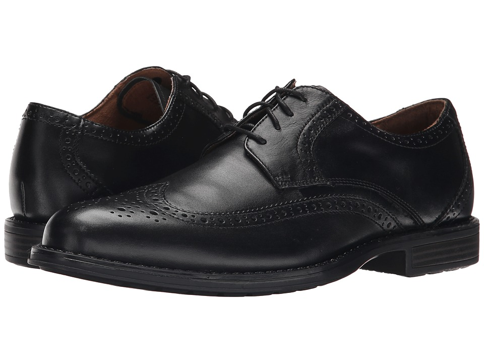 Nunn Bush Ryan Wing Tip Oxford (Black) Men