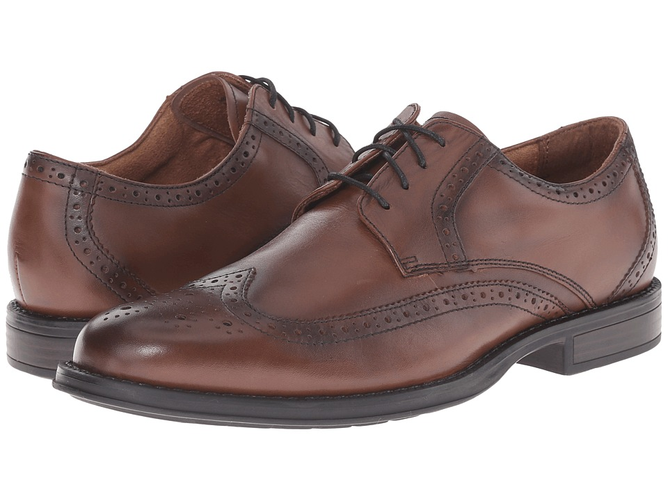 Nunn Bush Ryan Wing Tip Oxford (Chestnut) Men