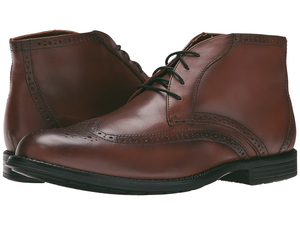 Nunn Bush Rawson Wing Tip Chukka (Chestnut) Men