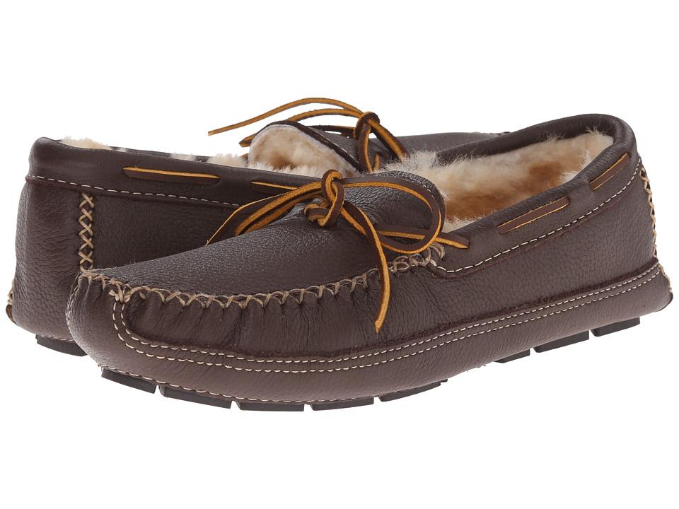 Minnetonka Sheepskin Lined Moose Slipper (Chocolate Moose) Men