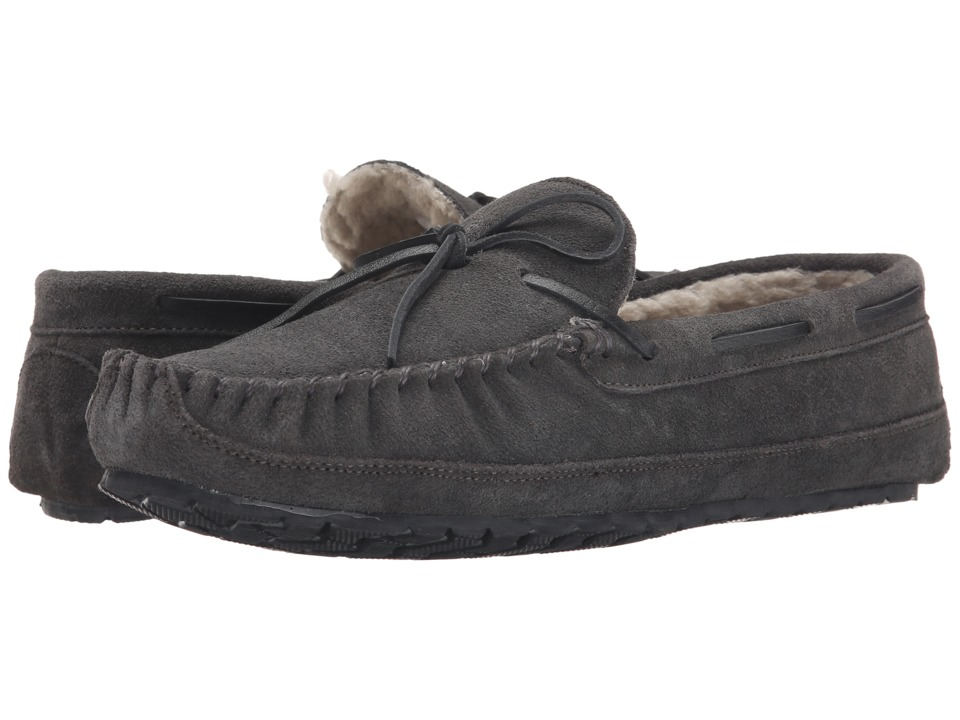 Minnetonka Casey Slipper (Charcoal) Men