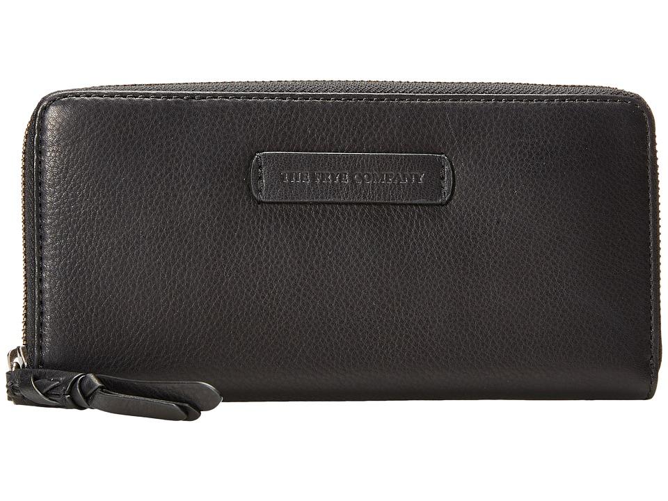 Frye - Jenny Zip Wallet 2 (Black Soft Vintage Leather) Wallet Handbags