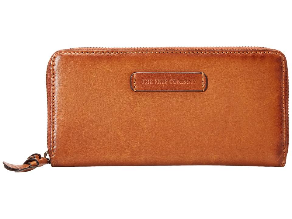 Frye - Jenny Zip Wallet 2 (Whiskey Soft Vintage Leather) Wallet Handbags