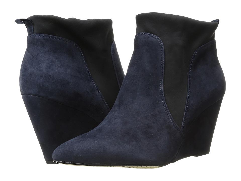 Bella Vita Deryn Navy Suede/Black Gore Womens Boots