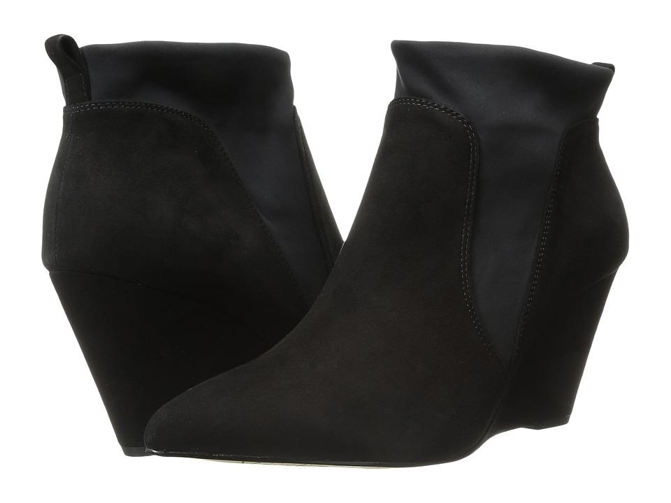 Bella Vita Deryn Black Suede/Black Gore Womens Boots