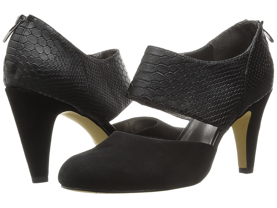 Bella-Vita Neola (Black Suede/Croco) High Heels
