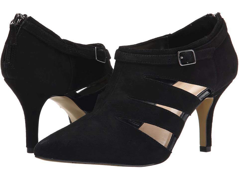 ella-Vita - Dylan (Black Suede) High Heels, wide width