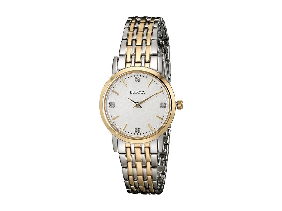 BULOVA Diamonds - 98P115 (Two-Tone) Dress Watches