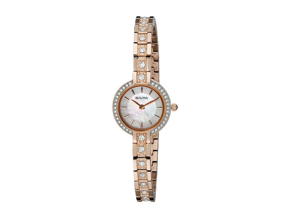 Bulova Crystal 98L215 Rose Dress Watches