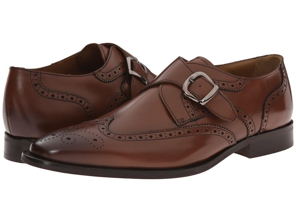 Florsheim - Sabato Wingtip Monk Cognac Smooth Mens Lace Up Wing Tip Shoes $130.00 AT vintagedancer.com