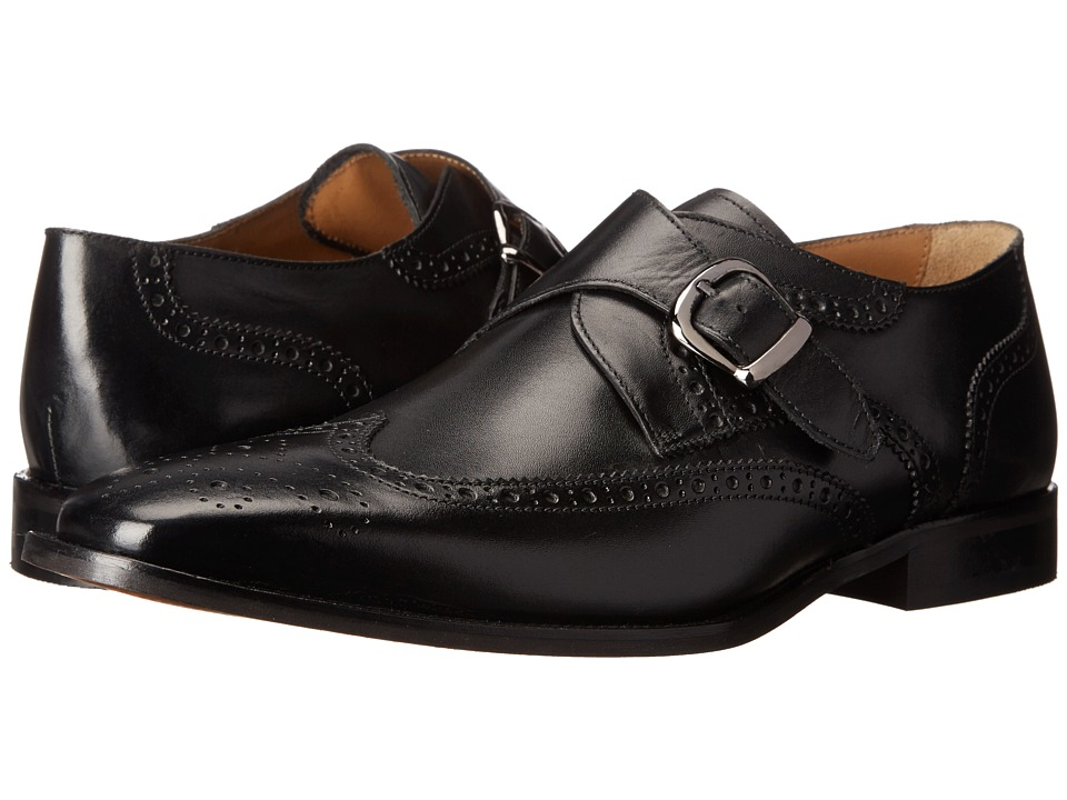 1960s Style Men's Clothing, 70s Men's Fashion Florsheim - Sabato Wingtip Monk Black Smooth Mens Lace Up Wing Tip Shoes $129.95 AT vintagedancer.com