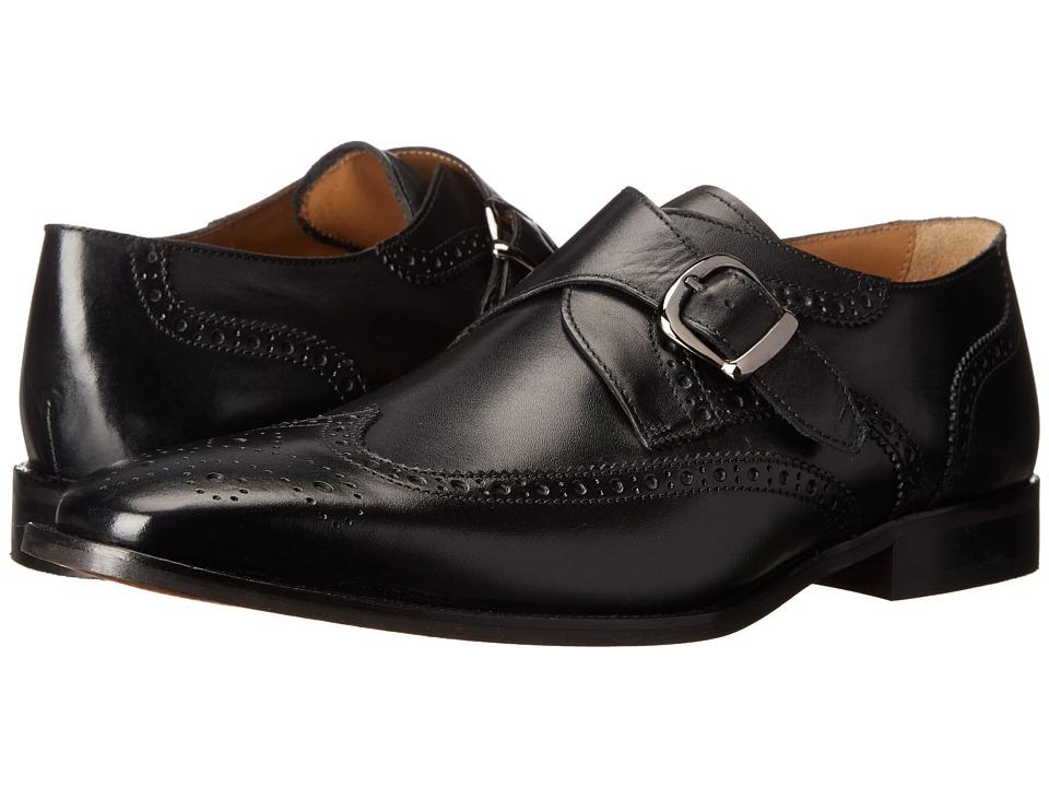60s Mens Shoes | 70s Mens shoes – Platforms, Boots Florsheim - Sabato Wingtip Monk Black Smooth Mens Lace Up Wing Tip Shoes $129.95 AT vintagedancer.com