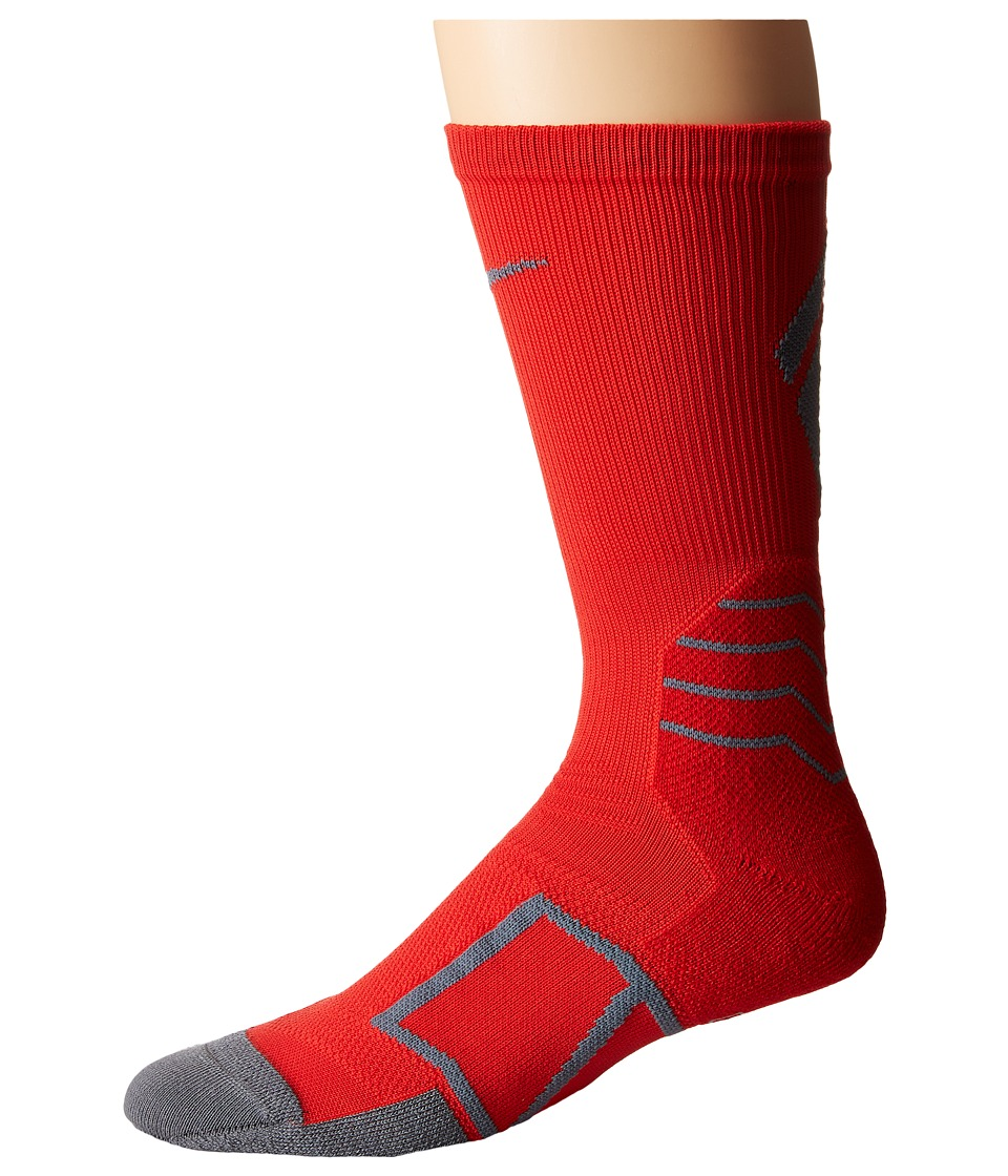 Nike - Elite Baseball Crew Sock (University Red/Flint Grey/Flint Grey) Crew Cut Socks Shoes