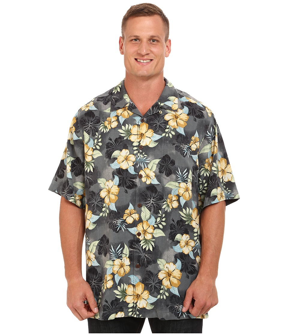 Tommy Bahama Big amp Tall Big Tall Beach Front Hibiscus Coal Mens Clothing