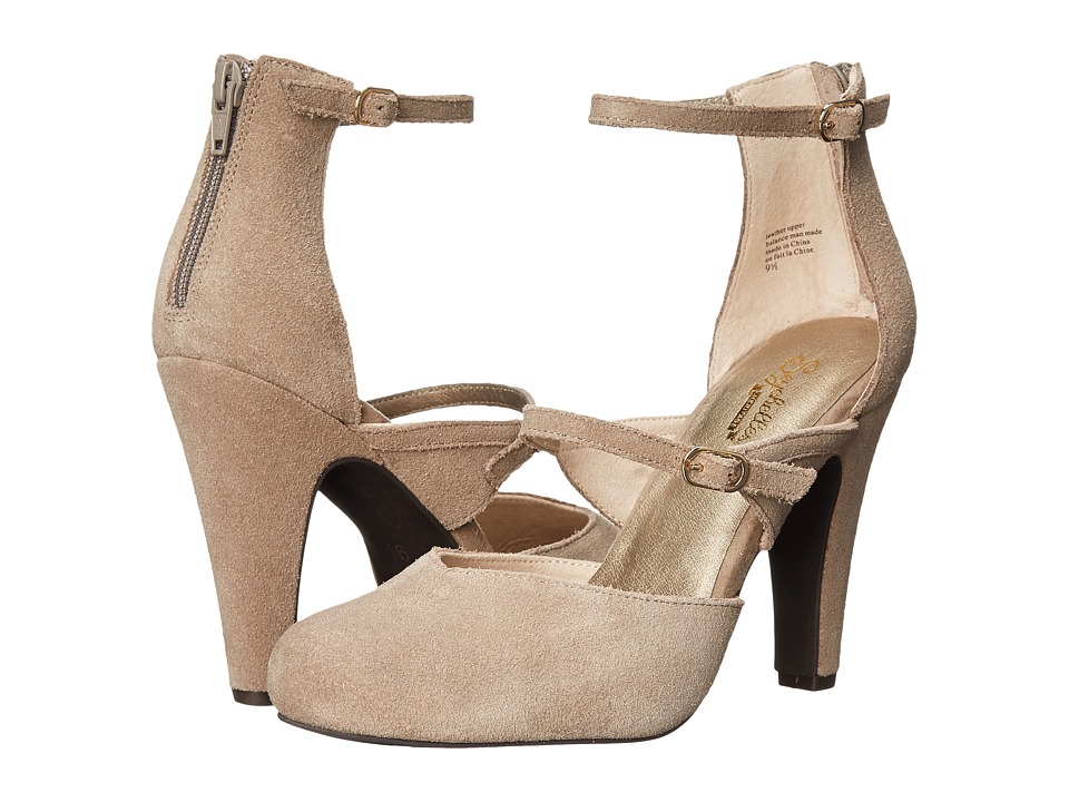 Seychelles - Harp Taupe High Heels $100.00 AT vintagedancer.com
