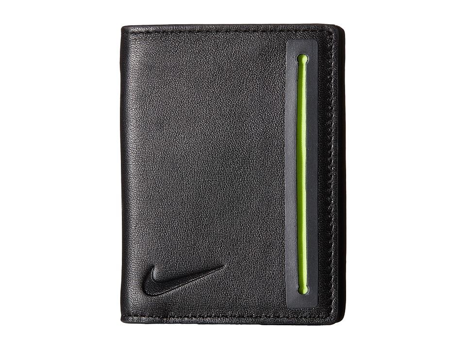 Nike - Slim Line Card Case Fold w/ Bill Compartment (Black) Wallet