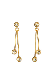 Oscar de la Renta - Ball and Crystal Linear Drop Earrings