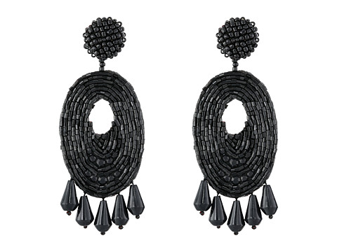 Kenneth Jay Lane Oval w/ Drops Round Top Earrings