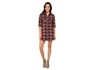 Stina Flannel Plaid Shirtdress
