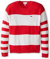 Lacoste Kids - Bold Stripe Crew Neck Sweater (Infant/Toddler/Little Kids/Big Kids)