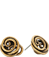 Oscar de la Renta - Wire Rose Button Earrings