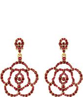 Oscar de la Renta - Pave Flower Earrings