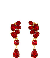 Oscar de la Renta - Asymmetrical Crystal C Earrings