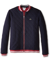 Lacoste Kids - Reversible Full Zip Quilted Sweatshirt (Toddler/Little Kids/Big Kids)